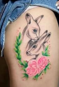 一组漂亮的鹿头纹身图案精选