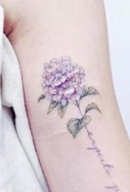 紫色系唯美的小清新纹身图案