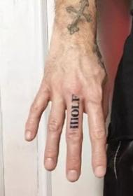 9张手指上的小清新黑灰纹身图案