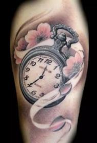 一组漂亮的时钟纹身图案大全