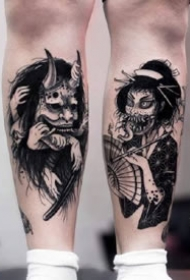 特式风格的恐怖的暗黑纹身图案