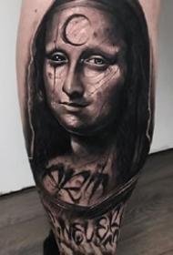 一组暗黑风格的名人像纹身图案欣赏