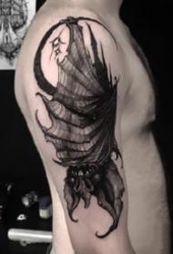 非常帅气的深黑色暗黑纹身图案大全