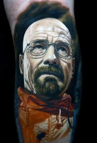 非常帅气的人物肖像纹身图案