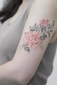 17张女生唯美小清新简约水彩纹身图案