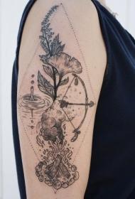 生机盎然的植物纹身图案