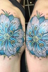 唯美清新秀雅的花朵纹身图案