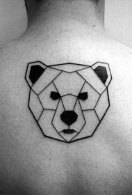 设计感十足的背部纹身图案