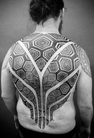 设计感十足的后背纹身图案