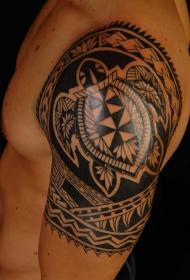 创意个性几何乌龟纹身图案