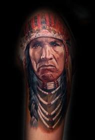 逼真的人物肖像纹身图案