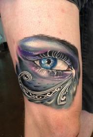 神采奕奕的眼睛纹身图案