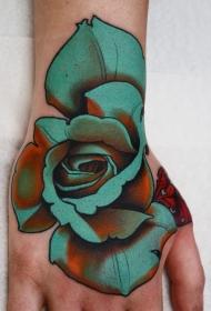 多款彩绘和素描的花朵纹身图案