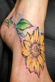 美艳而又清新靓丽的花朵纹身图案