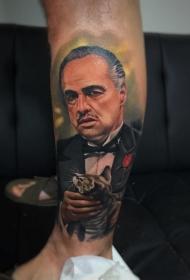 多款不同风格的人物肖像纹身图案