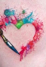五彩斑斓的创意渐变水彩纹身图案