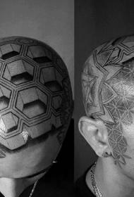 适合男生的头部纹身图案