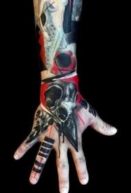 多款风格百变的手背纹身图案