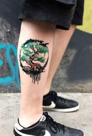个性创意的小腿纹身图案
