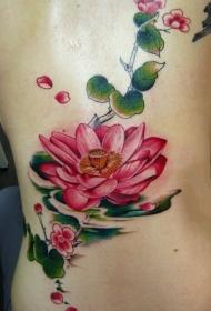 轻摇曼舞的莲花纹身图案