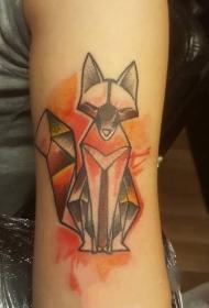 活泼的狐狸纹身图案