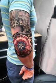 极具创意的英雄美国队长纹身图案