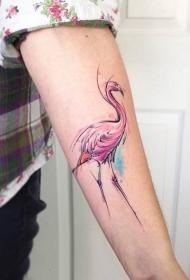 彩色泼墨纹身 绚丽多彩的彩色泼墨纹身图案