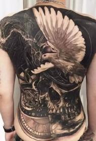一组男性霸气满背纹身刺青图案图案