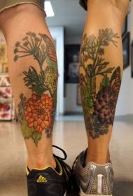 纹身腿上图案  新颖而又不失创意魅力的腿部纹身图案