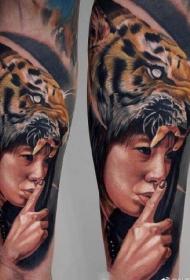 一组欧美9张超写实纹身图案作品图案