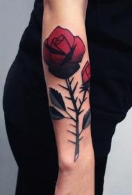 多款唯美艳丽的玫瑰纹身图案
