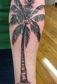 椰树纹身图案 多款小清新文艺纹身素描椰树纹身图案