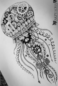 21张关于章鱼的纹身手稿图案