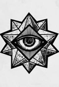 27张关于眼睛纹身手稿图案欣赏