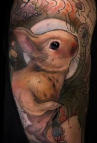 多款不同风格的兔子纹身图案