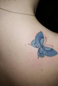 翩翩飞舞的蝴蝶纹身图案