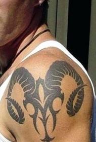 多款设计别样的白羊座纹身图案