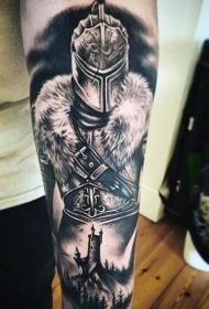 罗马战士纹身 高大英勇的罗马战士纹身图案