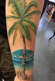 关于棕榈树纹身图案大全