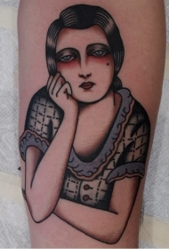 形态各异的外国女生人物纹身图案