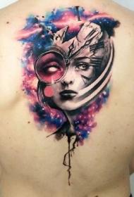 9张欧美彩色肖像纹身图案