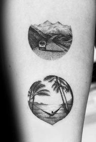 生命力十足的树木纹身图案