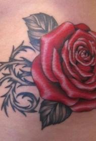 玫瑰纹身图   娇艳多姿的玫瑰纹身图案