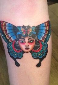 蝴蝶纹身图案    翩翩飞舞的蝴蝶纹身图案