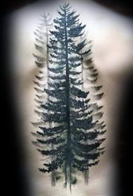 纹身树木的图像   绿树成荫的树木图像纹身图案
