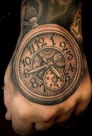 时钟纹身   滴答滴答的时钟纹身图案