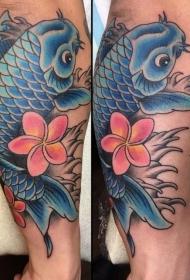 纹身锦鲤图案   灵动的锦鲤纹身图案