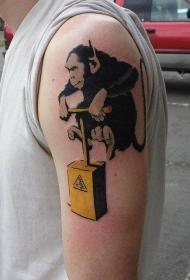 纹身涂鸦 随性而又别具特色的涂鸦纹身图案