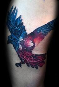 创意纹身图案  双重曝光的动物纹身图案