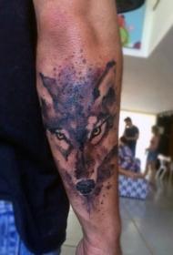 狼头纹身图案 凶猛机智的狼头纹身图案
